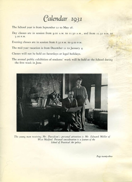 6 Page 23 of the 1931 Academic Catalog of the School of Practical Art.jpg